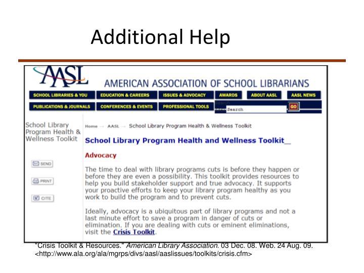 Additional Help