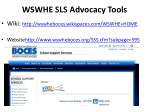 wswhe sls advocacy tools