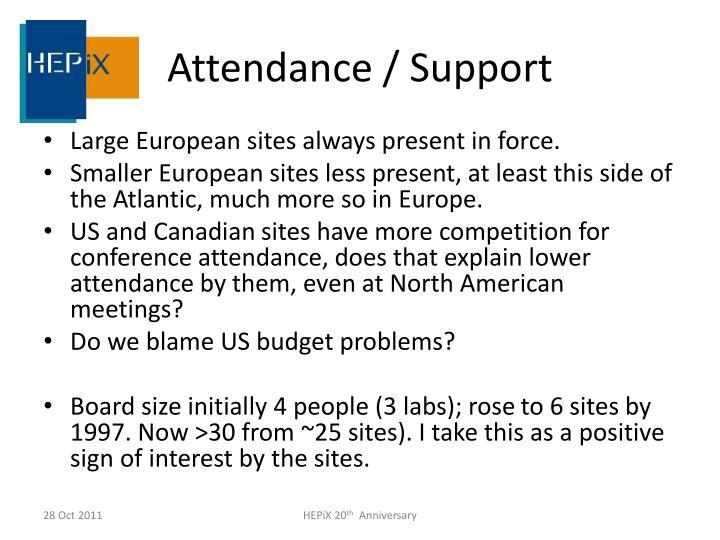 Attendance / Support