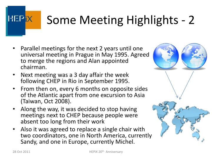 Some Meeting Highlights - 2