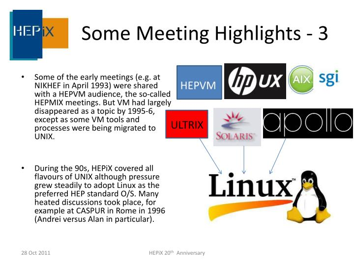 Some Meeting Highlights - 3