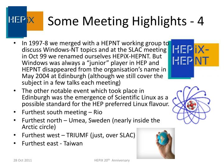 Some Meeting Highlights -