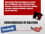 consequences of bullying