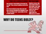 why do teens bully