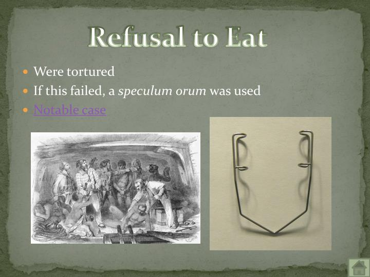 Refusal to Eat