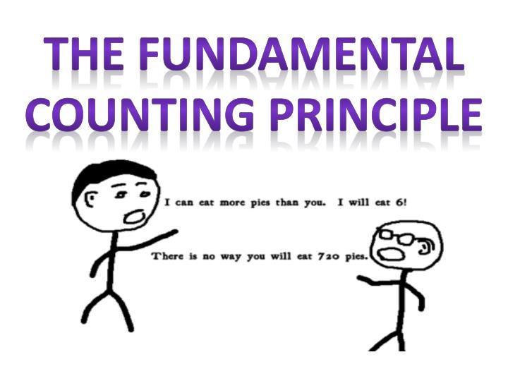 The Fundamental Counting Principle