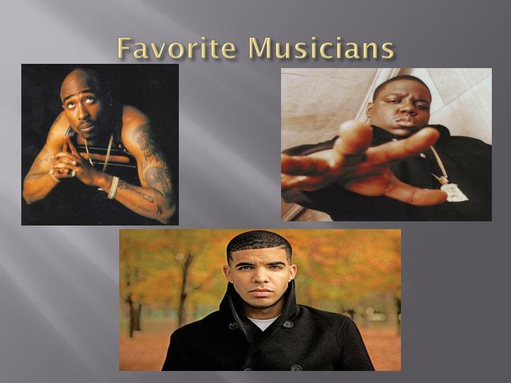 Favorite Musicians