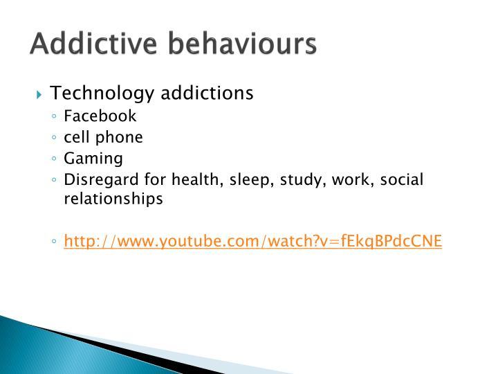 Addictive behaviours