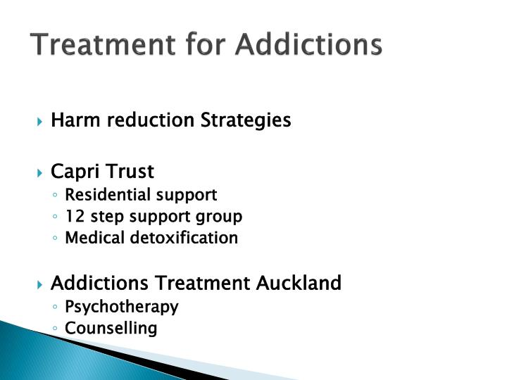 Treatment for Addictions