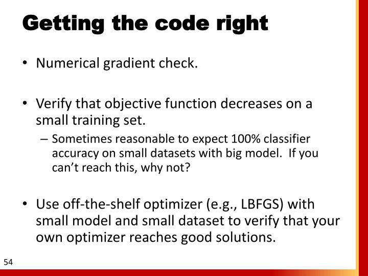 Getting the code right