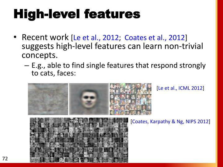 High-level features