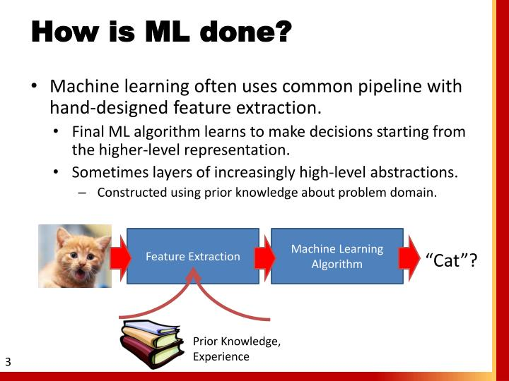 How is ML done?