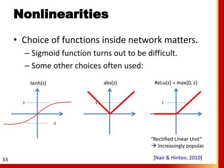 Nonlinearities