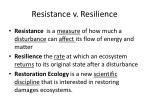 resistance v resilience