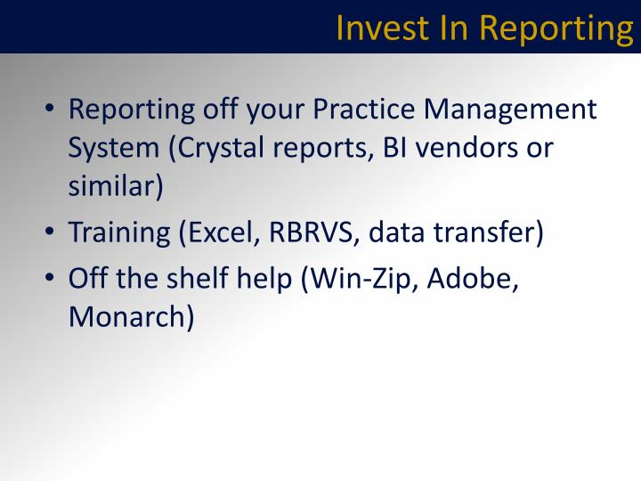 Invest In Reporting