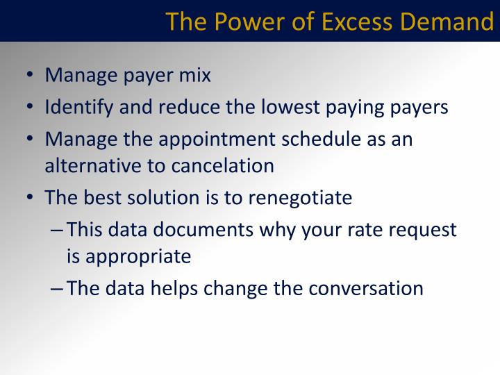 The Power of Excess Demand