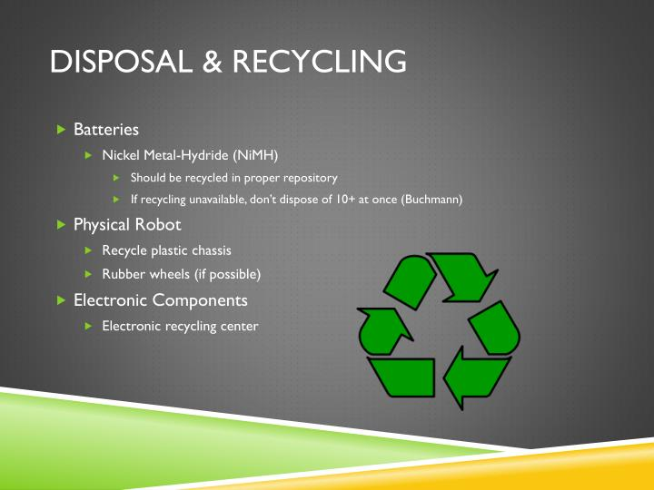 DISPOSAL & RECYCLING