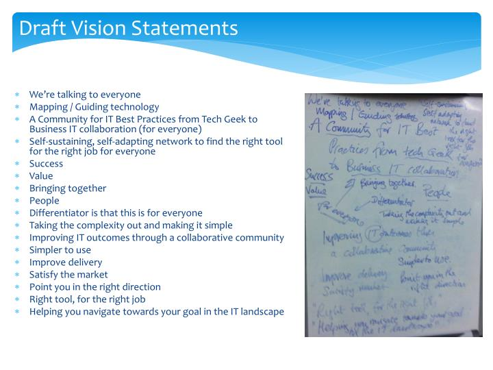 Draft Vision Statements