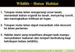 wildlife hutan habitat