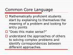 common core language