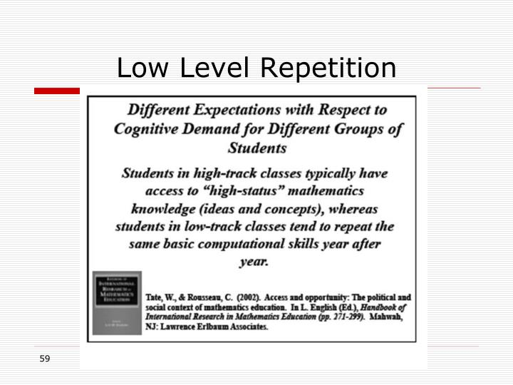 Low Level Repetition