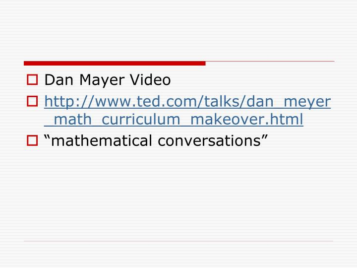 Dan Mayer Video