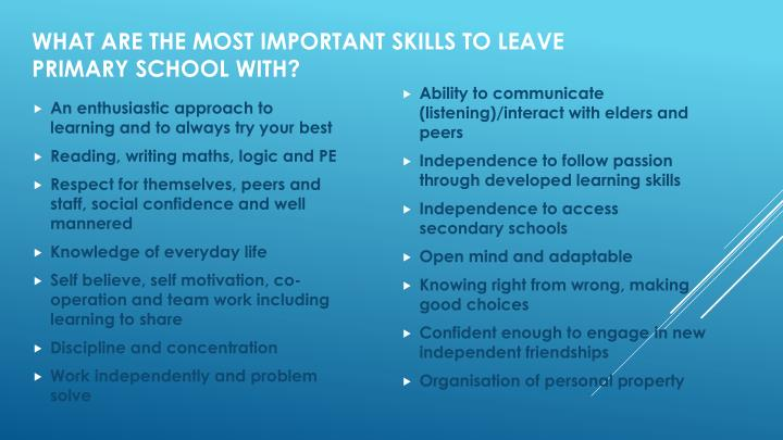 An enthusiastic approach to learning and to always try your best