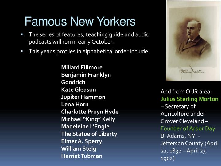 Famous New Yorkers