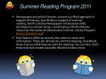 summer reading program 2011