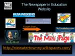 the newspaper in education website