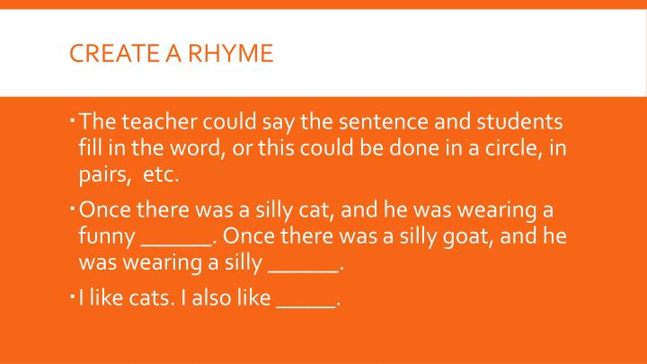Create a Rhyme