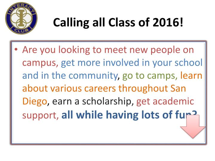 Calling all Class of 2016!