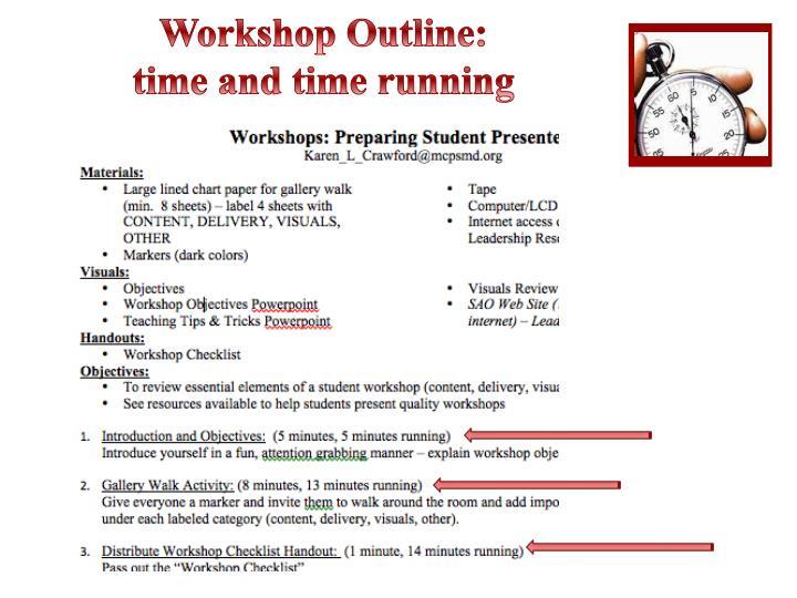 Workshop Outline: