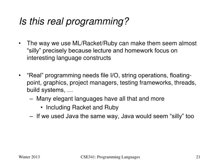 Is this real programming?