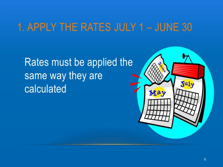 1. Apply the rates