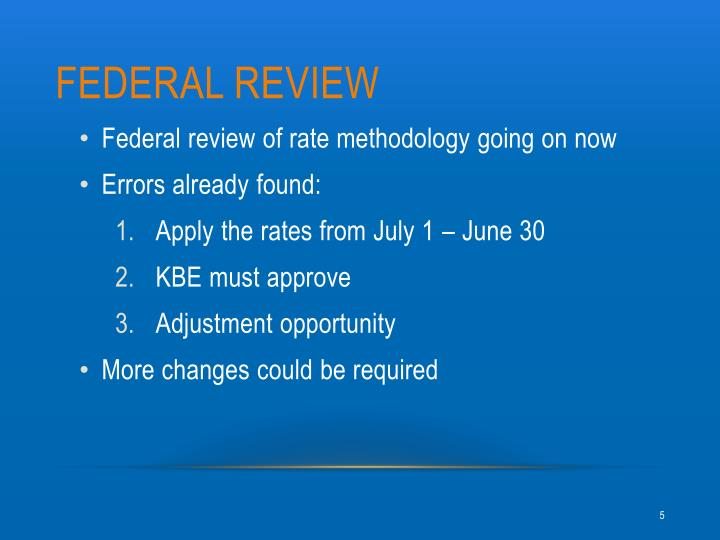 Federal review