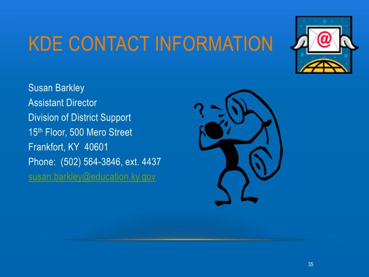 Kde contact information