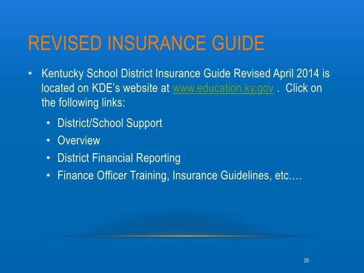Revised Insurance Guide