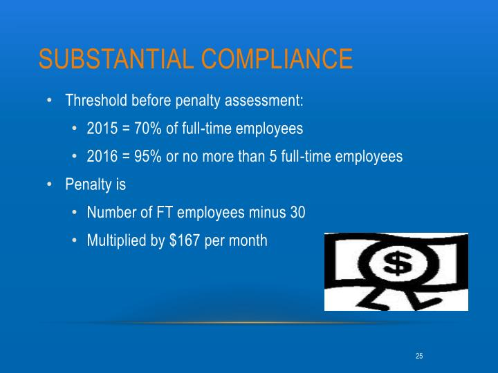 Substantial compliance