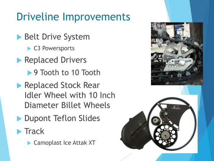 Driveline Improvements