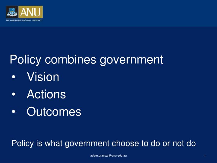 Policy combines government
