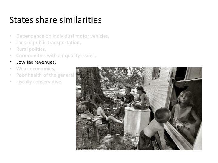 States share similarities