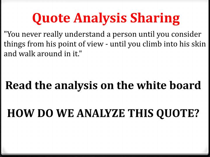Quote Analysis Sharing