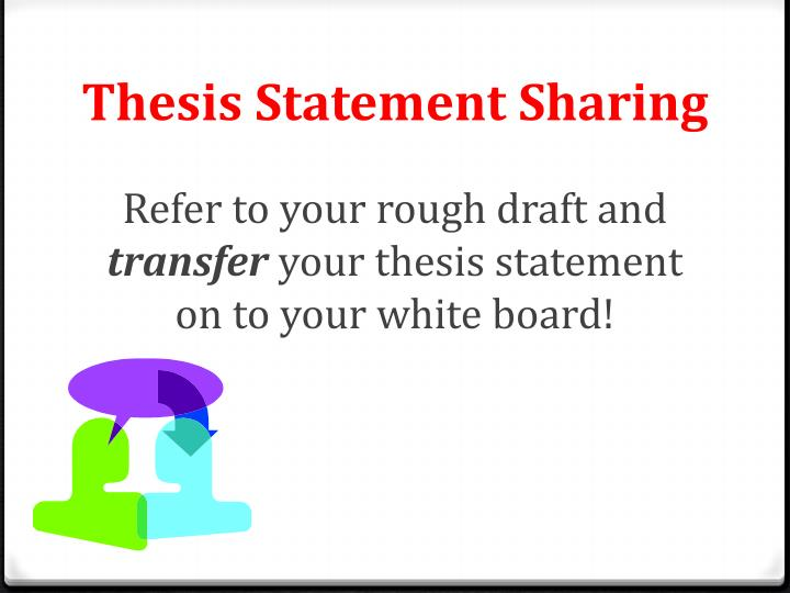 Thesis statement sharing