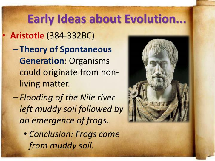 Early Ideas about Evolution...