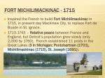 fort michilimackinac 1715