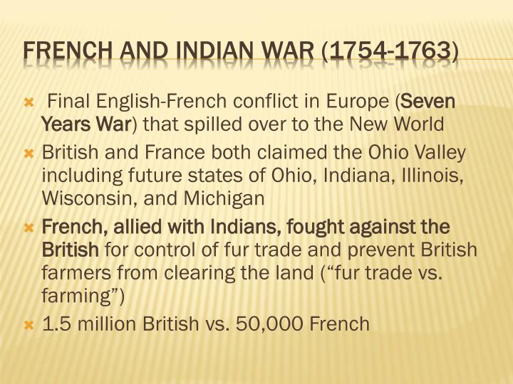 Final English-French conflict in Europe (