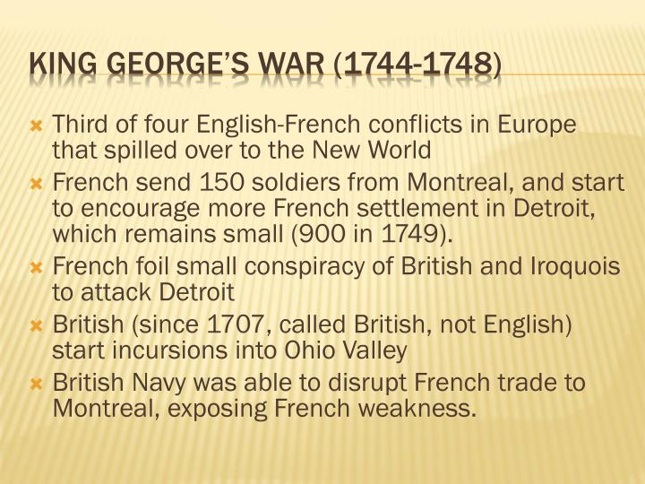 Third of four English-French conflicts in Europe that spilled over to the New World