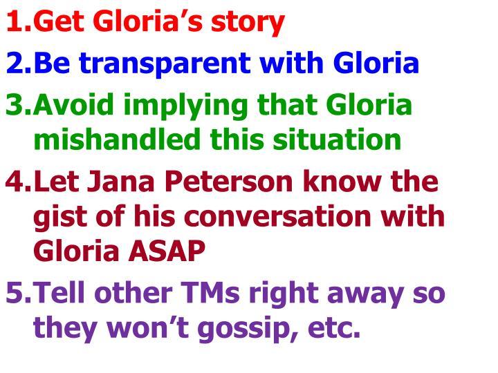 Get Gloria's story