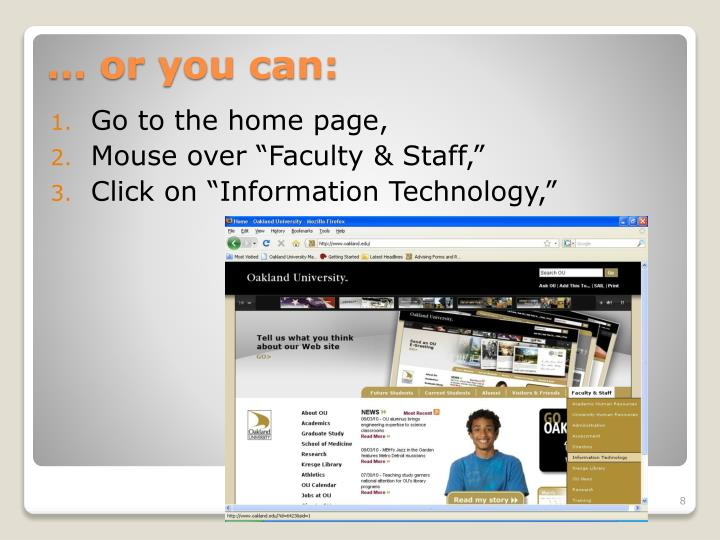 Go to the home page,